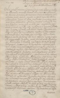Manuskrypt 1769-1770. [Kopiariusz listów mów, akt publicznych]