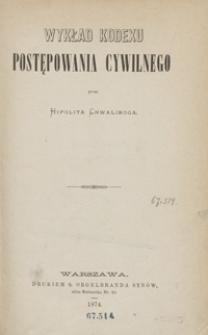 Wykład kodexu postępowania cywilnego