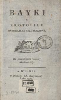 Bayki y krotofile oryginalne i tłumaczone