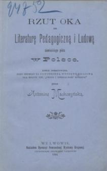 Rzut oka na literaturę pedagogiczną i ludową niewieściego pióra w Polsce