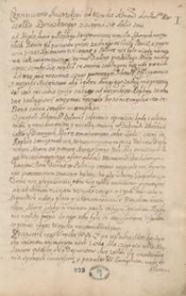 [Miscellanea, zawierające odpisy listów, akt publicznych, mów, wierszy i innych materiałów odnoszących się głównie do spraw politycznych Polski z lat 1663-1733]