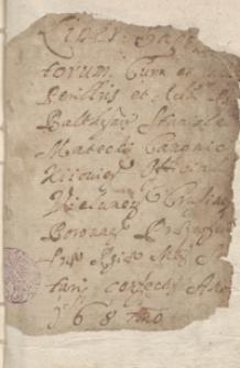 [Księga chrztów parafii Kruszyna z lat 1687-1715]