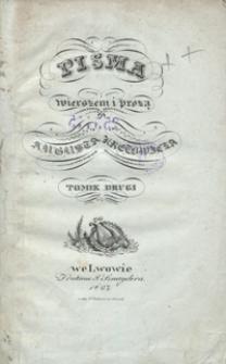 Pisma wierszem i prozą Augusta Kretowicza. Tomik drugi