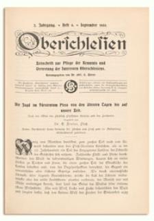 Oberschlesien. Zeitschrift zur Pflege der Kenntnis und Vertretung der Interessen Oberschlesiens. 2. Jahrgang, September 1903, Heft 6