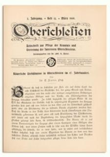 Oberschlesien. Zeitschrift zur Pflege der Kenntnis und Vertretung der Interessen Oberschlesiens. 2. Jahrgang, März 1904, Heft 12
