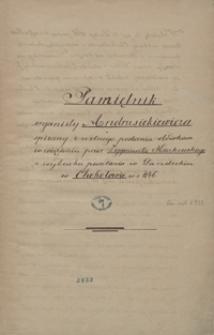 Pamiętnik organisty Andrusikiewicza spisany z ustnego podania ołówkiem w więzieniu przez Zygmunta Kaczkowskiego z wybuchu powstania w sandeckim w Chohołowie w r. 1846