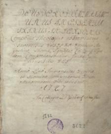 Deus Ter optimus, Maximus, Unus in Essentia, Trinus in Personis Compendio Theologico abbreviatus [...] 1747 in Collegio Leopoliensi Soc. Iesu [oraz inne traktaty teologiczne]