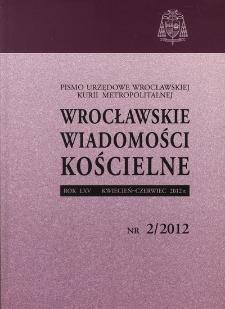 Wrocławskie Wiadomości Kościelne. R. 65 (2012), nr 2