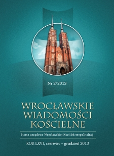 Wrocławskie Wiadomości Kościelne. R. 66 (2013), nr 2
