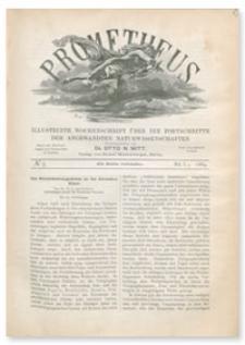Prometheus : Illustrirte Wochenschrift über die Fortschritte der angewandenten Naturwissenschaften. 1. Jahrgang, 1889, Nr 5