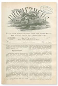 Prometheus : Illustrirte Wochenschrift über die Fortschritte der angewandenten Naturwissenschaften. 1. Jahrgang, 1890, Nr 17