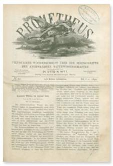 Prometheus : Illustrirte Wochenschrift über die Fortschritte der angewandenten Naturwissenschaften. 1. Jahrgang, 1890, Nr 22