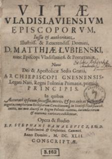Vitae Vladislaviensium Episcoporum [...]