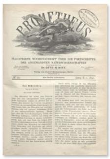 Prometheus : Illustrirte Wochenschrift über die Fortschritte der angewandenten Naturwissenschaften. 2. Jahrgang, 1891, Nr 74