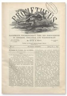 Prometheus : Illustrirte Wochenschrift über die Fortschritte in Gewerbe, Industrie und Wissenschaft. 2. Jahrgang, 1891, Nr 91