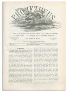 Prometheus : Illustrirte Wochenschrift über die Fortschritte in Gewerbe, Industrie und Wissenschaft. 3. Jahrgang, 1892, Nr 122