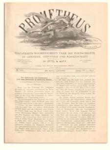 Prometheus : Illustrirte Wochenschrift über die Fortschritte in Gewerbe, Industrie und Wissenschaft. 4. Jahrgang, 1892, Nr 161