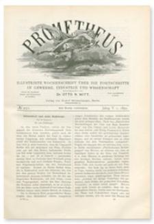 Prometheus : Illustrirte Wochenschrift über die Fortschritte in Gewerbe, Industrie und Wissenschaft. 5. Jahrgang, 1894, Nr 250