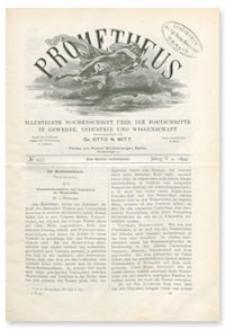 Prometheus : Illustrirte Wochenschrift über die Fortschritte in Gewerbe, Industrie und Wissenschaft. 5. Jahrgang, 1894, Nr 257